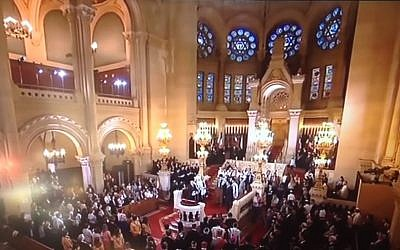 The Grand Synagogue of Paris (Youtube screen capture)