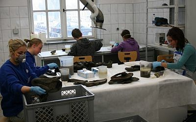 The conservation laboratory at the Auschwitz-Birkenau State Museum, which was established two years after the German army's retreat in 1945. (Photo credit: Katarzyna Markusz)