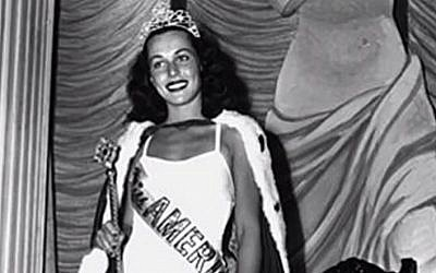 Bess Myerson, the first Jewish Miss America (screenshot: YouTube)