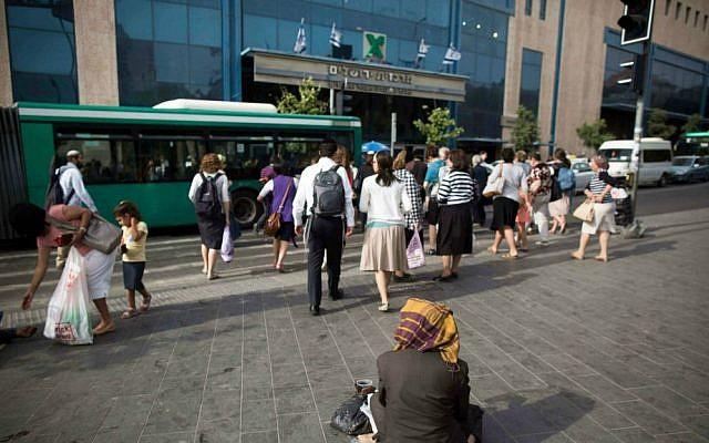The Central Bus Station in Jerusalem (photo credit: Yonatan Sindel/ Flash90)