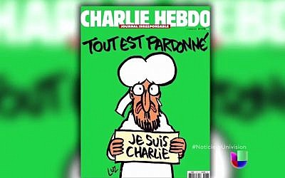 The 'survivor's issue' of Charlie Hebdo, set to be published Wednesday, January 14, 2015. (YouTube screenshot)