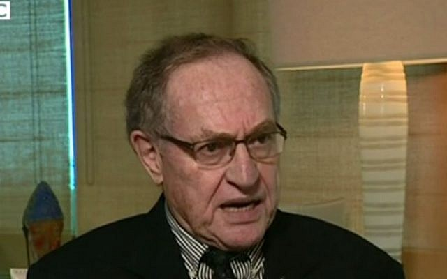 US attorney Alan Dershowitz, January 4, 2015 (screen capture: BBC)