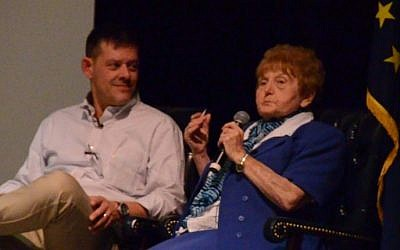 Rainer Höss with Eva Mozes Kor (Photo credit: YouTube screen capture)