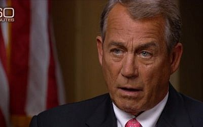 Speaker of the US House of Representatives John Boehner on CBS's 60 Minutes on January 25, 2015 (screen capture: CBS)