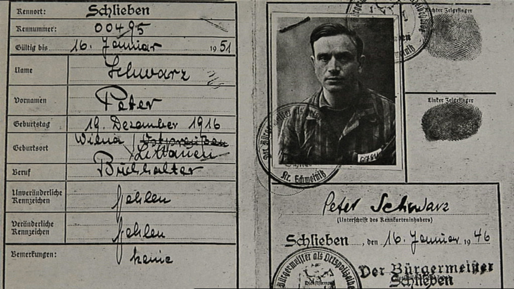 Documents from Great Uncle Peter, who chose to stay in the same East German village as the concentration camp in which he was imprisoned. (courtesy KinoLorber)