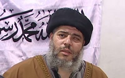 Abu Hamza, a cleric who is on trial in New York on terrorism charges. (photo credit: YouTube screen capture)