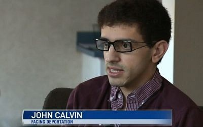 John Calvin, a gay, Christian Palestinian asylum seeker, who currently resides in Canada, says he fears for his life after he was issued a deportation order on December 31, 2014. (Photo credit: CTV News Edmonton screen shot)