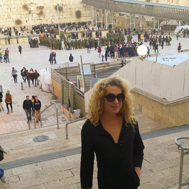 Kay Long leaves the Western Wall on Monday. (photo courtesy: Kay Long)