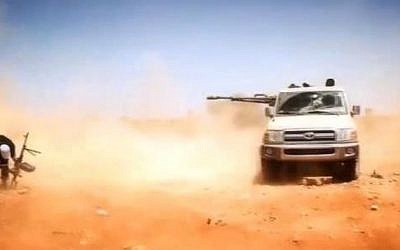 Illustrative image of Islamist fighters in Libya (YouTube screenshot)