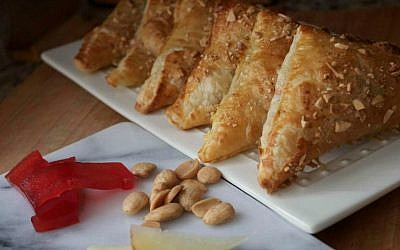 These Spanish-inspired Manchego and Quince turnovers are a sort of savory Cuban boureka. (Jennifer Stempel/via JTA)