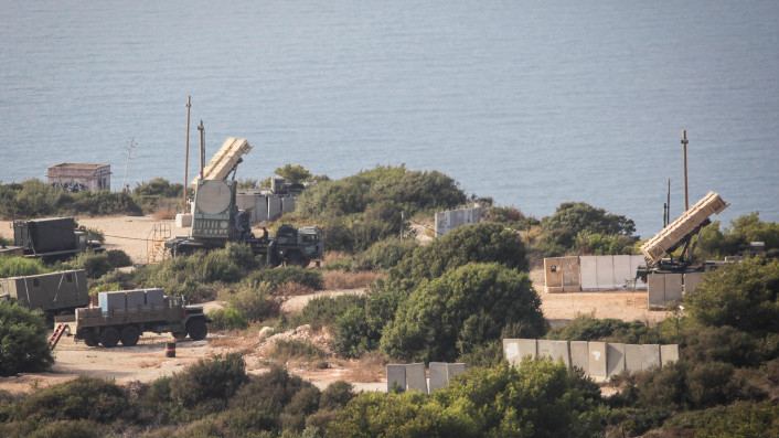 A Patriot battery perched up above the Haifa coast on August 29, 2013 (photo credit: Avishag Shaar Yashuv/ Flash 90)