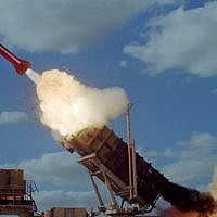 Illustrative: A Patriot missile. (Israel Air Force)