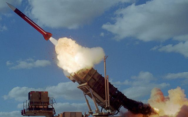 Illustrative: A Patriot missile. (courtesy of Israel Air Force)