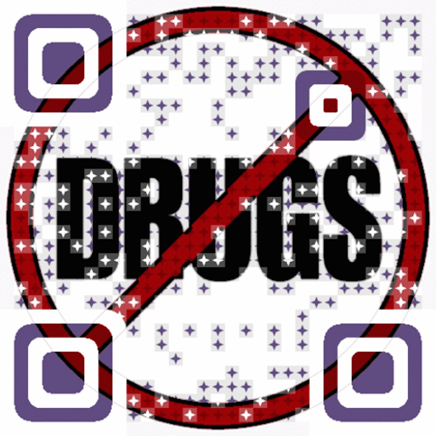 A Visualead QR code for Red Ribbon Week (Photo credit: Courtesy)