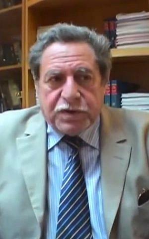 Sammy Ghozlan, founder of France's National Bureau for Vigilance Against Anti-Semitism (photo credit: YouTube screenshot)