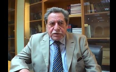Sammy Ghozlan, founder of France's National Bureau for Vigilance Against Anti-Semitism (photo credit: YouTube screenshot)