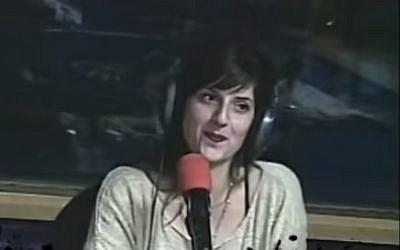 Shira Mistriel, a candidate for Yisrael Beytenu (photo credit: YouTube screenshot)