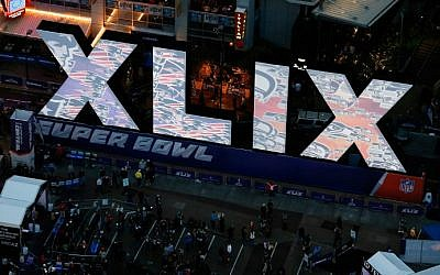 General view of downtown area festivities for Super Bowl XLIX on January 30, 2015 in Phoenix, Arizona. Super Bowl XLIX, between the Seattle Seahawks and New England Patriots, will be held at the University of Phoenix Stadium on February 1, 2015 (photo credit: Christian Petersen/Getty Images/AFP)