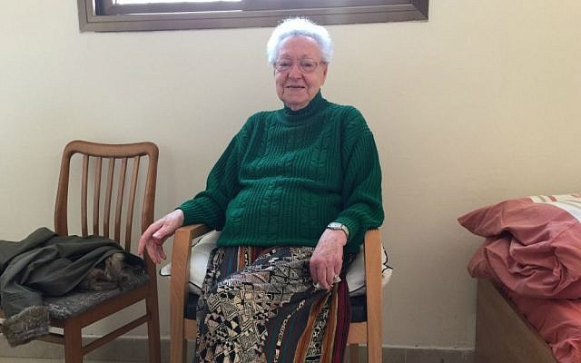 Sylvia Zicherman, a Holocaust survivor, lives in one of Reuth's senior homes. (photo credit: Debra Kamin/Times of Israel)