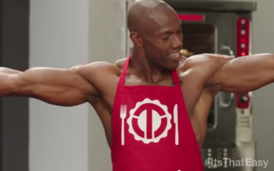 Terrell Owens flexes his web-design skills in the ad. (photo credt: YouTube screenshot)
