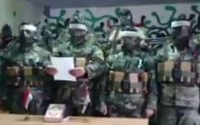 Syrian soldiers wearing suicide belts declare their intention to seek martyrdom (Photo credit: MEMRI TV)