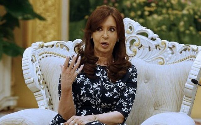 Argentinian President Cristina Fernandez de Kirchner on February 5, 2015 (Photo credit: AFP/Pool)
