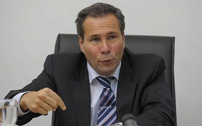 Alberto Nisman gives a news conference in Buenos Aires on May 20, 2009. (photo credit: AFP/Juan Mabromata)