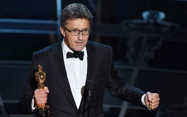 Filmmaker Pawel Pawlikowski accepts the Best Foreign Language Film Award for 'Ida' at the 87th Annual Academy Awards in Hollywood, California, on February 22, 2015. (photo credit: Kevin Winter/Getty Images/AFP)