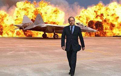 Nir Barkat as counterterrorism agent meme. (Twitter)