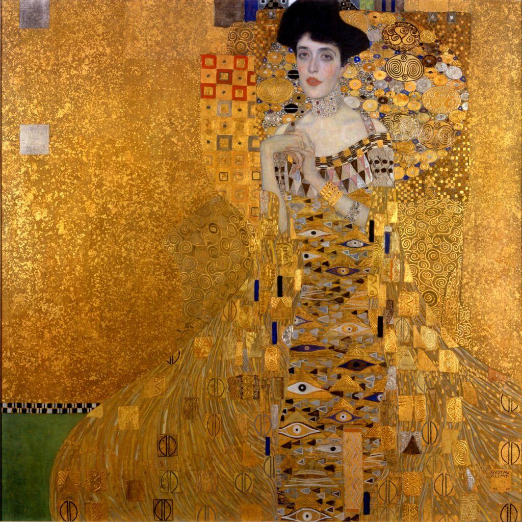 Gustav Klimt's 1907 'Portrait of Adele Bloch Bauer I' (Public domain)