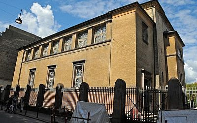 Copenhagen's main synagogue on Krystalgade (photo credit: Jerrye & Roy Klotz MD/Wikipedia)