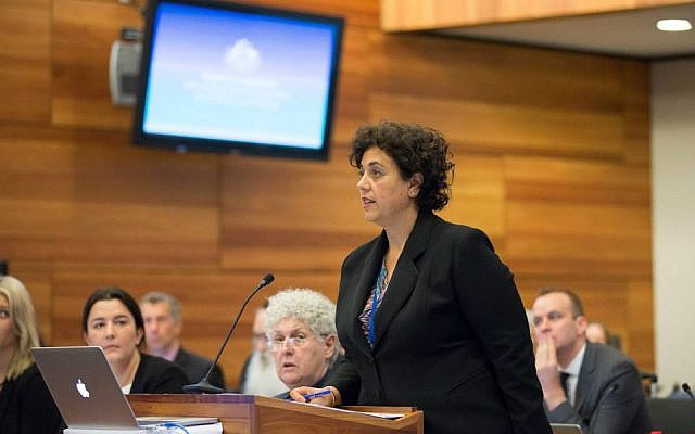 Maria Gerace testifies before the Royal Commission into Institutional Responses to Child Sexual Abuse on Feb. 2, 2015. Witnesses testified that Jewish leaders were aware of sexual abuse in Jewish schools for decades without reporting it to authorities. (photo credit: courtesy of the royal commission)