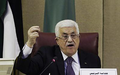 Palestinian Authority President Mahmoud Abbas, Thursday, Jan. 15, 2015 (AP/Amr Nabil)