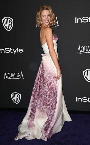 Yael Grobglas arrives at the 16th annual InStyle and Warner Bros. Golden Globes afterparty at the Beverly Hilton Hotel on Sunday, Jan. 11, 2015, in Beverly Hills, Calif. (Photo by Matt Sayles/Invision/AP)