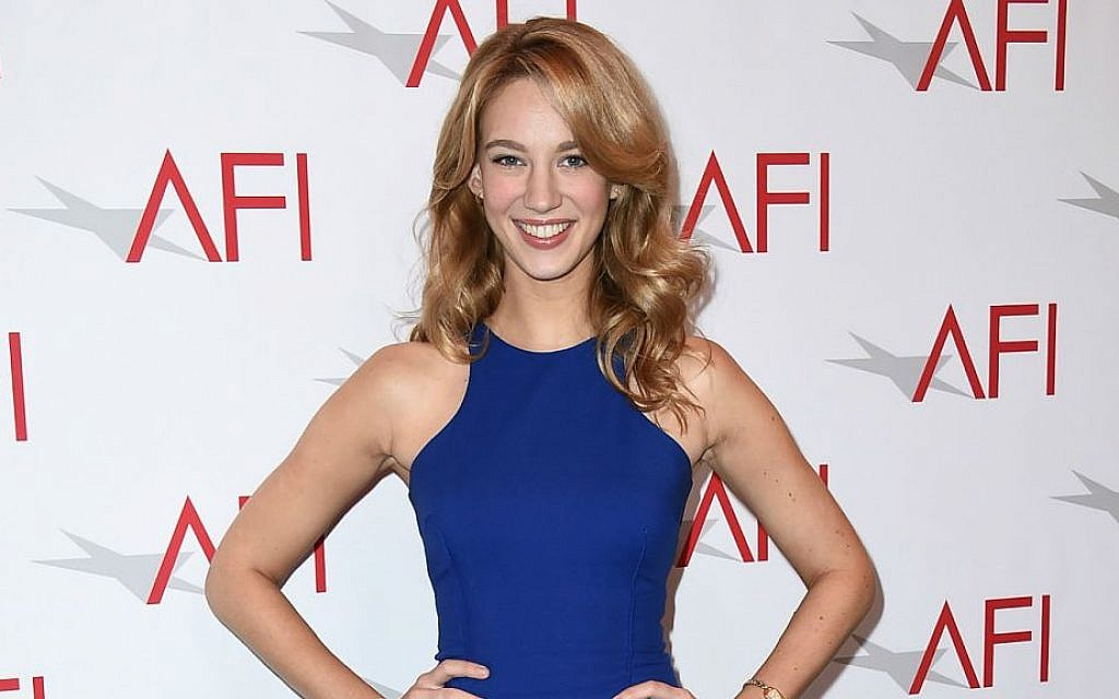 Yael Grobglas arrives at the AFI Awards at The Four Seasons Hotel on Friday, Jan. 9, 2015 in Los Angeles. (Photo by Jordan Strauss/Invision/AP)