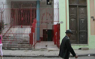 Chabad emissaries won't step foot in Havana's Orthodox synagogue, Adath Israel. (photo credit: Josh Tapper/JTA)