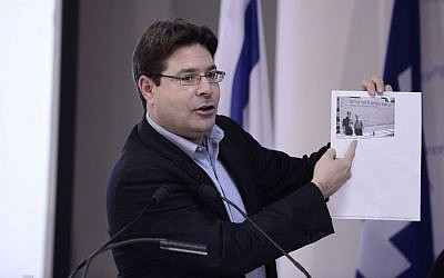 Likud MK Ofir Akunis seen at a press conference of the Likud party in Tel Aviv on February 01, 2015. (Tomer Neuberg/Flash90)