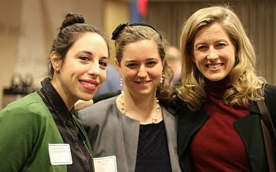 Daughter of environmental presidential hopeful Al Gore, Karenna Gore (far right) is the director of Union Forum/Global Social Justice Partnerships at the Union Theological Seminary. Also pictured are Aliyah Vinikoor (far left), the Greening Fellow at the Jewish Theological Seminary, and Becca Linden, of Hazon. (Courtesy Hazon)