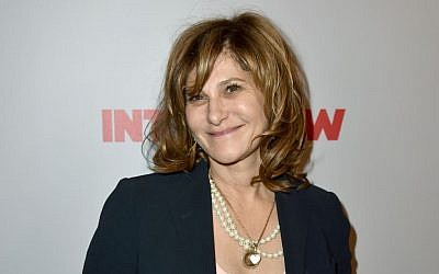 Amy Pascal attends the premiere of Columbia Pictures' 'The Interview' in Los Angeles, December 11, 2014 in Los Angeles (photo credit: Kevin Winter/Getty Images, via JTA)