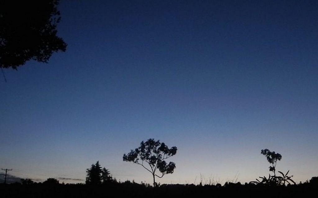 The sun sets over Kasuku in Kenya's highlands. (Melanie Lidman/Times of Israel)