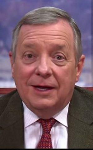 Sen. Richard Durbin, D-Illinois, speaks to Face the Nation on CBS, Febraury 1, 2015. (screen capture: YouTube)