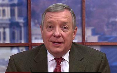 Sen. Richard Durbin, D-Illinois speaks to Face the Nation on CBS, Febraury 1, 2015. (screen capture: YouTube/Face the Nation on CBS)