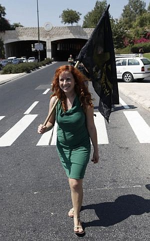 Stav Shaffir at a social justice protest in Jerusalem, September 19, 2011. (Photo credit: Uri Lenz / Flash90)
