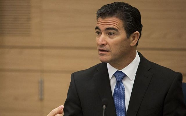 National Security Adviser Yossi Cohen at a Knesset Foreign Affairs and Defense Committee meeting, September 2, 2014 (Noam Revkin Fenton/Flash90, File)