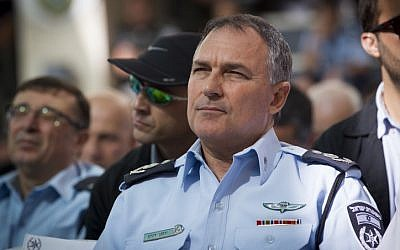 Israel's Chief of Police Yohanan Danino in Jerusalem on November 13, 2014. (Photo credit: Miriam Alster/Flash90.)
