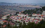 Illustrative photo of a West Bank settlement. December 17, 2014. (Miriam Alster/Flash90)