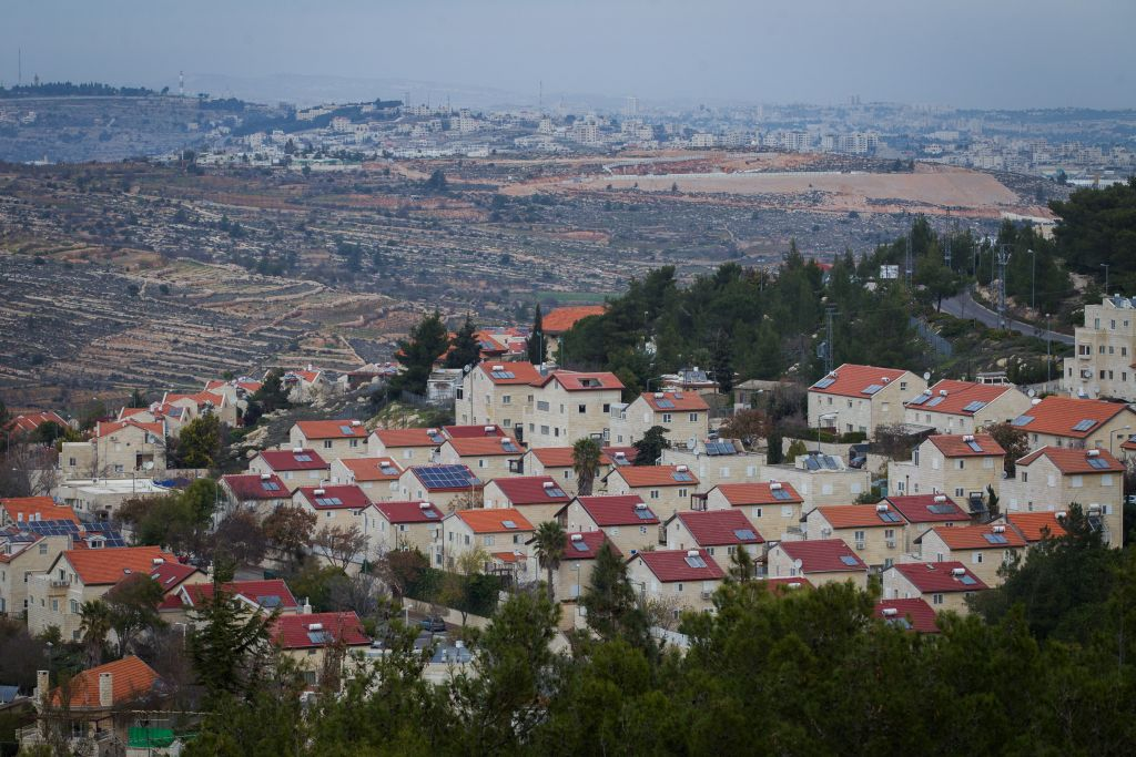 Illustrative photo of the West Bank settlement of Efrat, December 17, 2014 (Miriam Alster/Flash90)