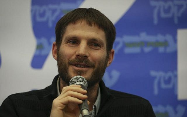 Jewish Home party candidate Bezalel Smotrich speaks to students at the Lev Institute in Jerusalem on January 21, 2015. (photo credit: Hadas Parush/Flash90)