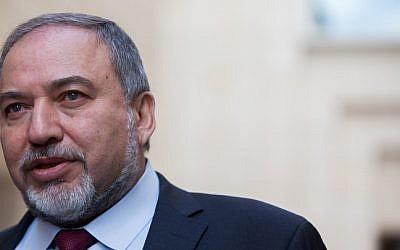 Foreign Minister and Yisrael Beytenu Chairman Avigdor Liberman (photo credit: Yonatan Sindel/Flash90)