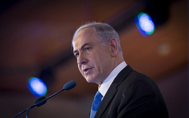 Prime Minister Benjamin Netanyahu in Jerusalem on February 16, 2014 (photo credit: Miriam Alster/Flash90)
